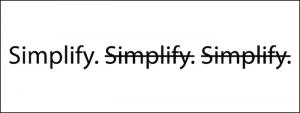 vendita, semplifica le opzioni