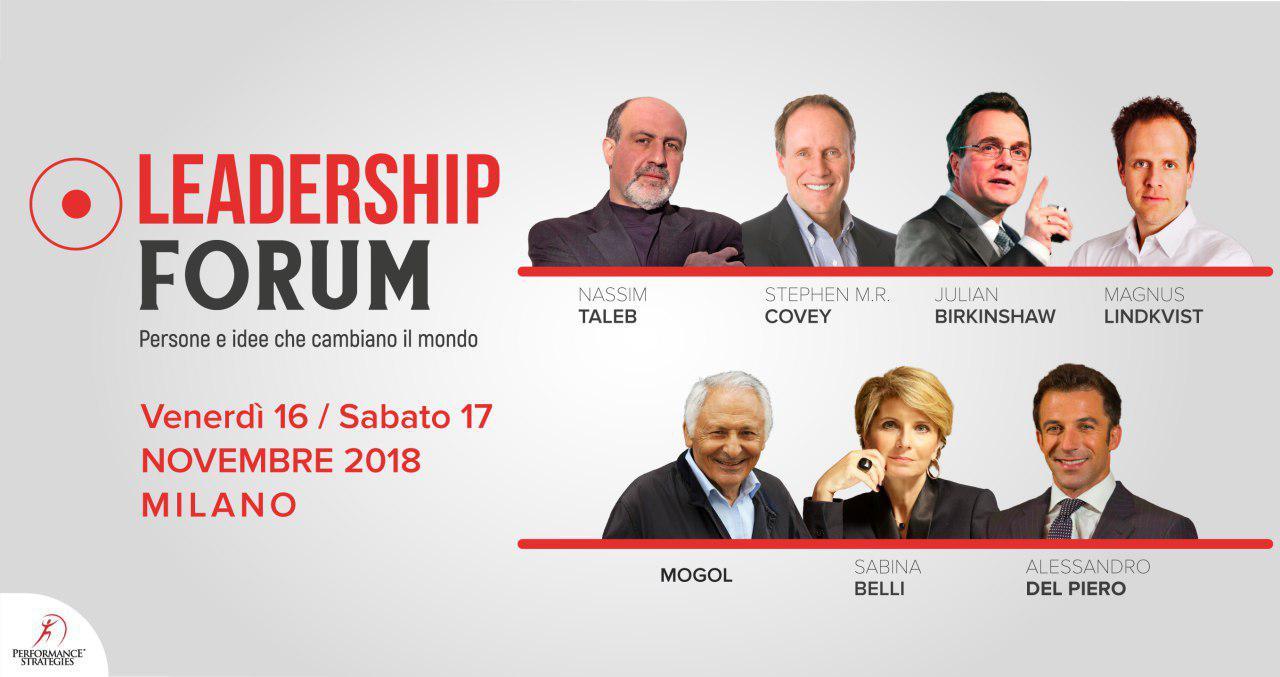 Leadership Forum - il 16 e 17 Novembre 2018 a Milano - Performance Strategies