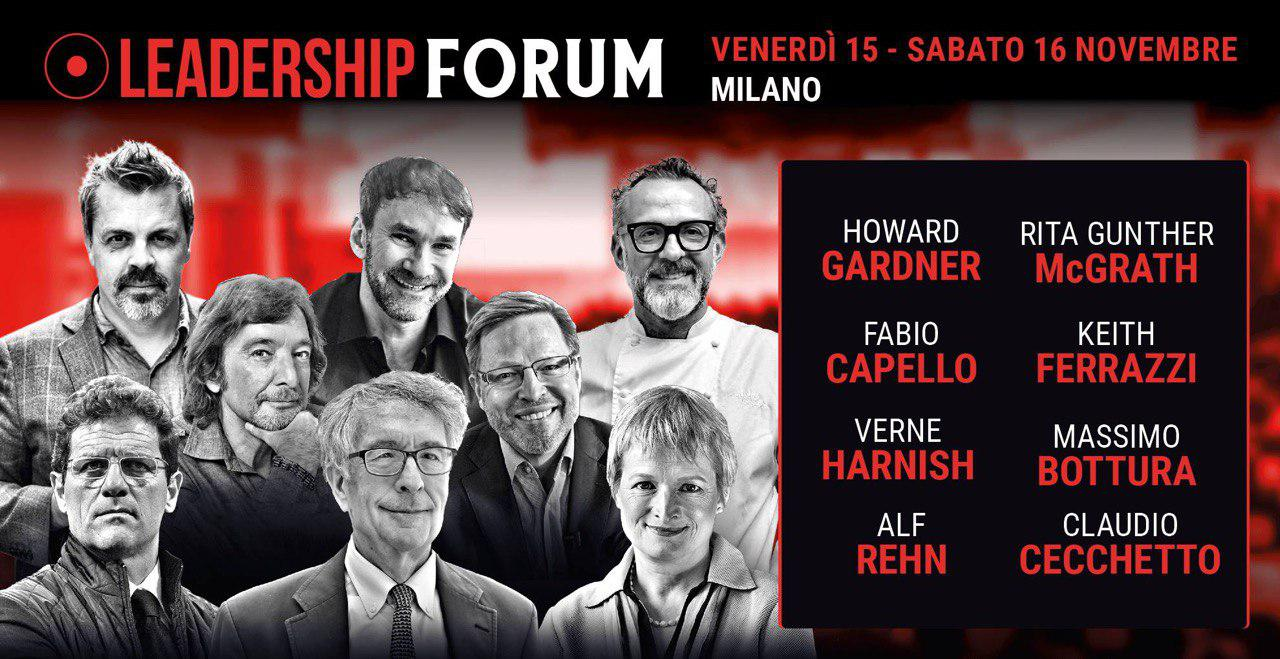 I protagonisti del Leadership Forum 2019