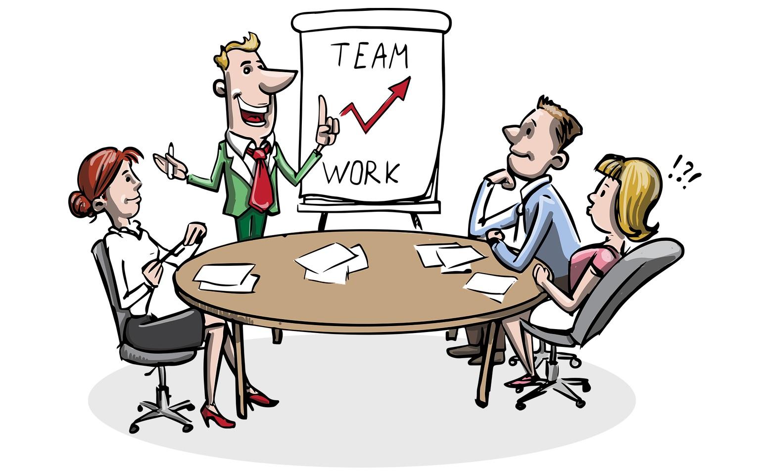 Team al lavoro