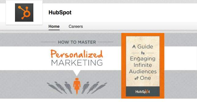 HubSpot LinkedIn header